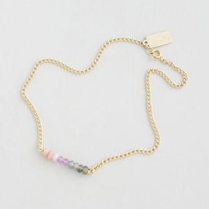 正規販売店♪送料無料♪【RueBelle Designs/ルーベルデザインズ】 Anklet 14k gold filled chain & findings pink opal amethyst mystic green amethyst カラーMulti & Gold【楽天市場】
