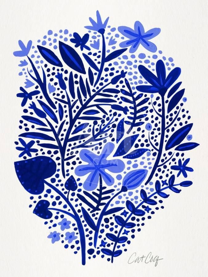 Blue Gardenby Cat Coquillette Project Island Bungalow In
