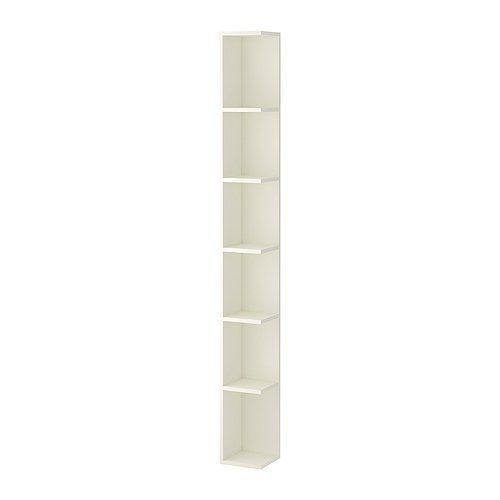 LILLÅNGEN Étagère de finition, blanc blanc 19x19x179 cm
