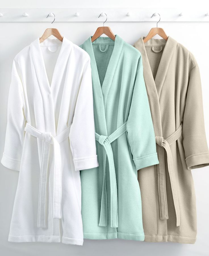 Hotel Collection Waffle Weave Robe 100 Turkish Cotton
