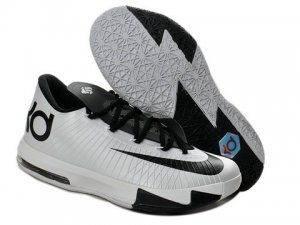 Nike Zoom KD 6 White Black Shoes are cheap sale on our website. Shop the
