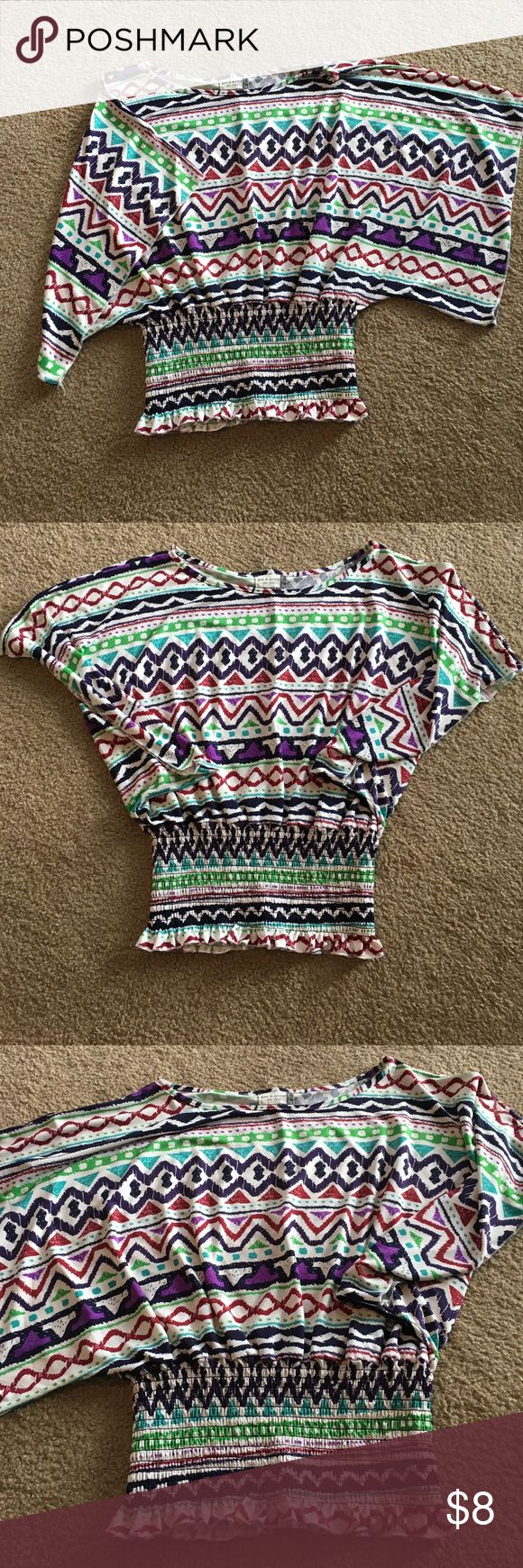 Colorful aztec blouse size large. Colorful Aztec blouse size large brand Jon & Anna of New York Tops Blouses