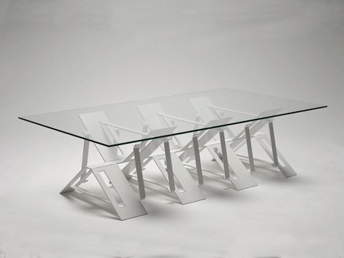 Perfect Cut And Folded Steel Frame On This Table Only Yields 4% Waste Because It Is