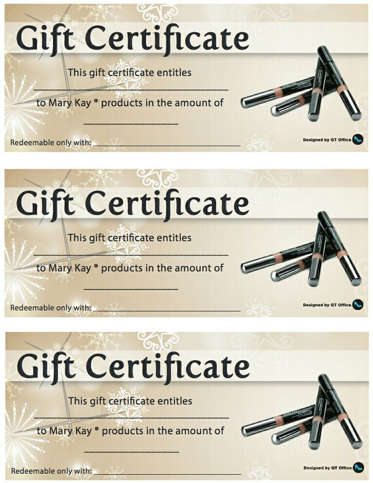 15 best MK Gift Certificates images on Pinterest Gift ideas - fresh younique gift certificate template
