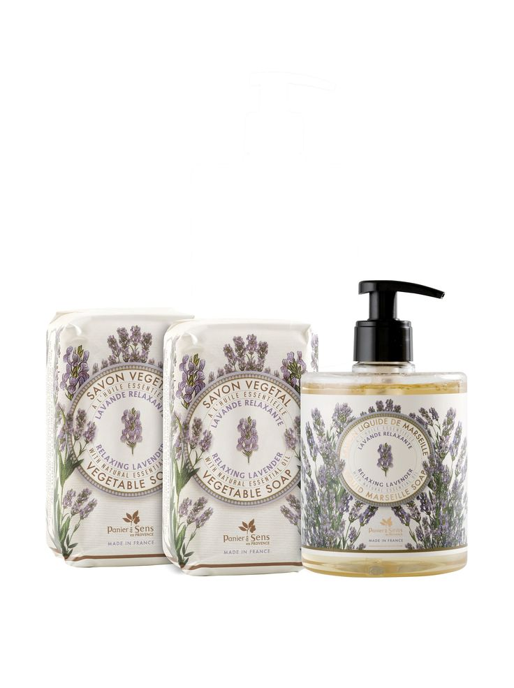Panier des Sens Relaxing Lavender Liquid Soap and Vegetable Soaps, Set of 3 at MYHABIT