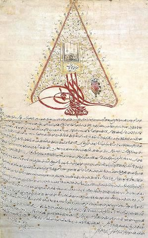 Ferman of Sultan Mustafa III-1766