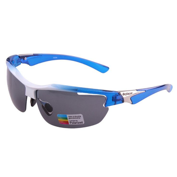 XQ-339 Outdoor Sports Riding Polarized Glasses white with blue