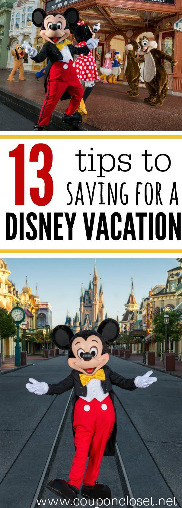 Wanting to go to Disney World? Here are 13 Tips to Saving for Disney World Vacation.