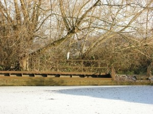 The Famous Grand Union Canal, frozen in winter