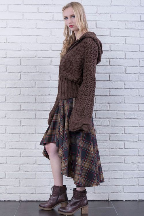 cod 140 & cod 175 hand made jacket made in italy grunge boho chic style long plaid skirt