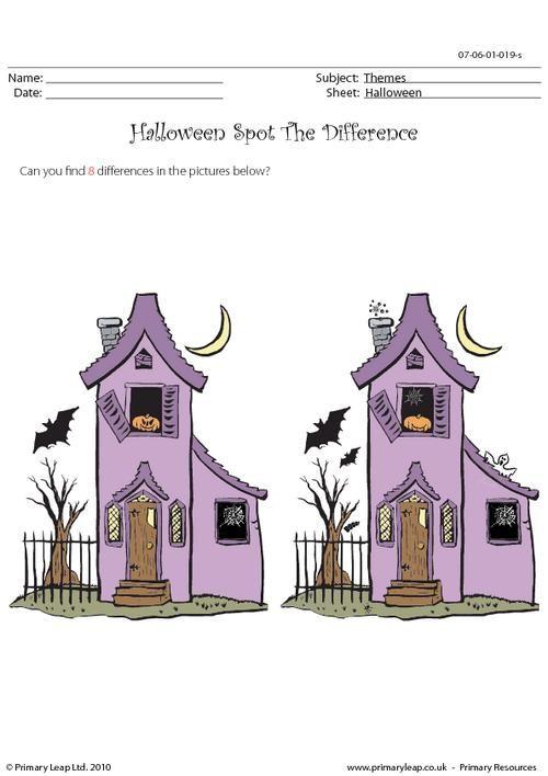 41 besten Halloween Printable Worksheets - PrimaryLeap Bilder auf ...
