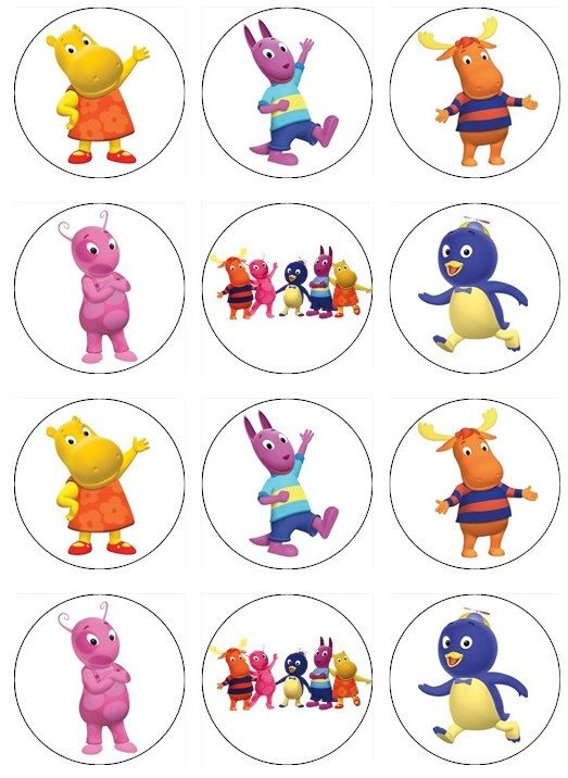 Edible BACKYARDIGANS  Cupcake Toppers 12 edible by TastyToppers1, $6.00