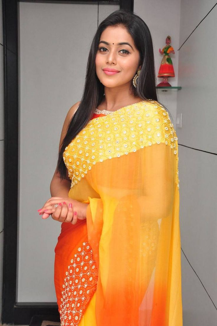 Poorna Latest Hot Stills In Orange Saree  actress Poorna