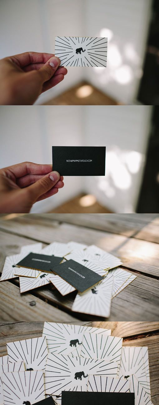723 best business cards images on pinterest business cards mammoth reach cards mammothreach loves great design and letterpress this card is a two reheart Image collections