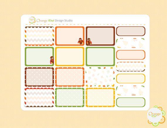 Thanksgiving Half Box Planner Stickers Turkey Planner