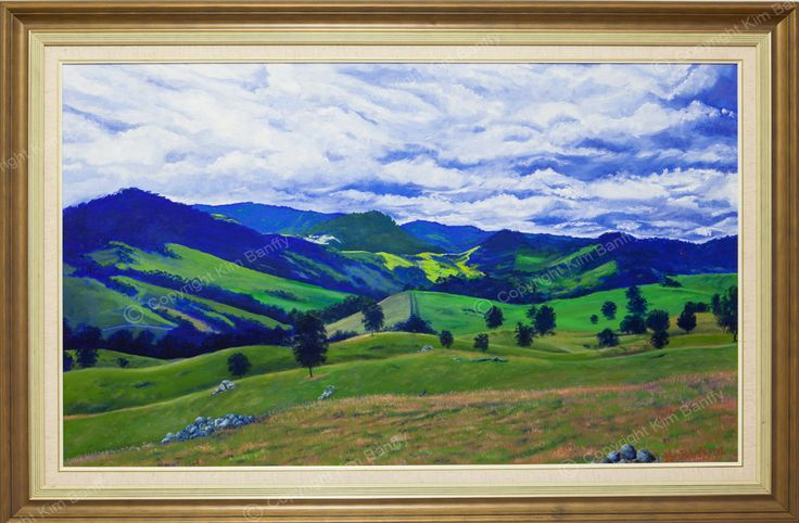 Oil painting of the Kanimbla Valley. For sale on my website.