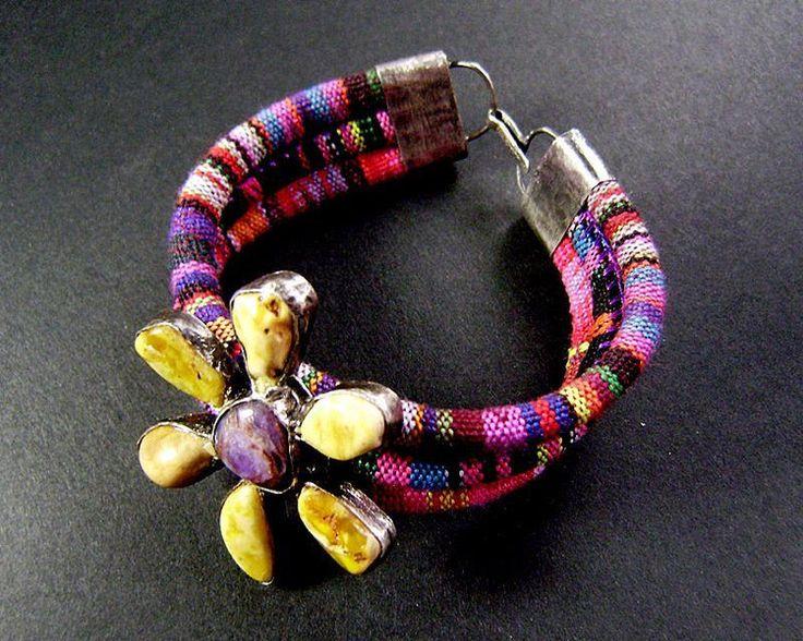 Kolorowa bransoleta w artkatalina -  biżuteria artystyczna na DaWanda.com
