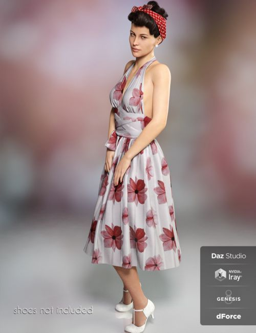 dForce Iconic Dress for Genesis 8 Female(s) | 3D Clothing for Daz