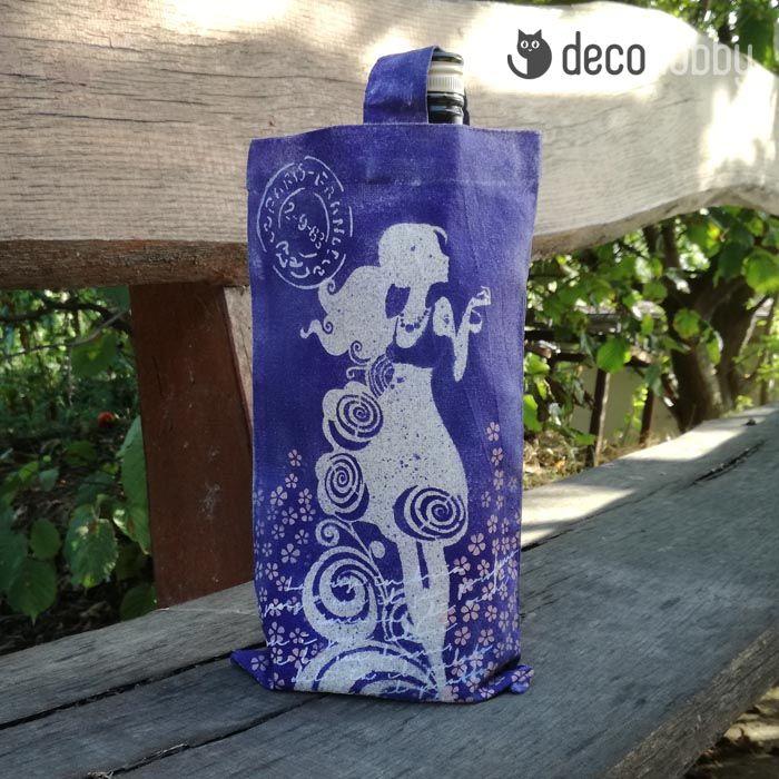 Csajos textil szatyor Pentart textilfestékekkel | DecoHobby