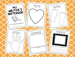 Writer's Notebook Printables: for quick write ideas or brainstorming