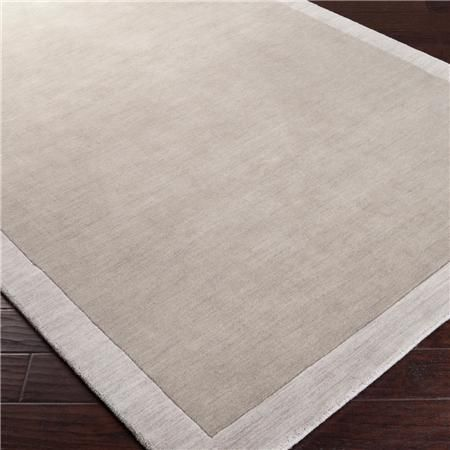 City Hues Solid Bordered Rug