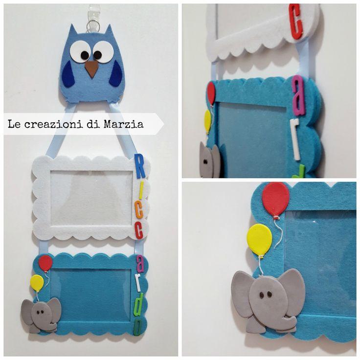 Riccardo, cornici, cornici personalizzate, elefante, elefantino, gufo, palloni, palloncini, idea regalo per bambini, idea regalo per nascite, nascita bambino, cornici per bambino