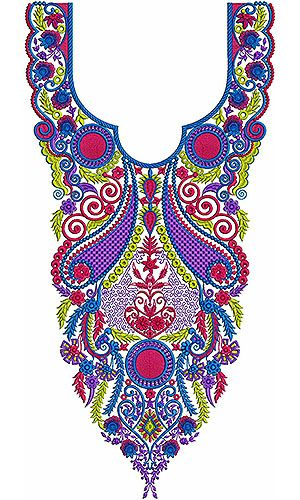 Latest 2014 Embroidery Neck Designs in Pakistan