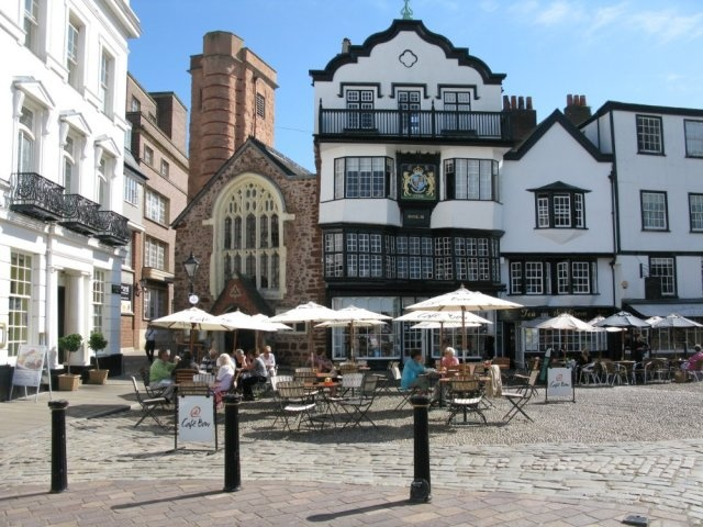 Molls Coffee House, Cathedral Close, Exeter, Devon, UK