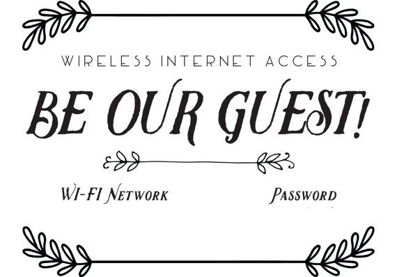 A perfect way to make your guests feel welcome! Upon purchase, you will have instant access to:  -This welcoming Wi-Fi Printable, customizable with your own text. (Note: Customization portion is the actual network name and password, the remainder of the text is not editable. Must have Microsoft Word to edit this file.)  - The Wi-Fi Printable in PDF form (fillable)   - A link to a free download of the font used in the example pictures above.   Instructions for installing a font on Windows can…
