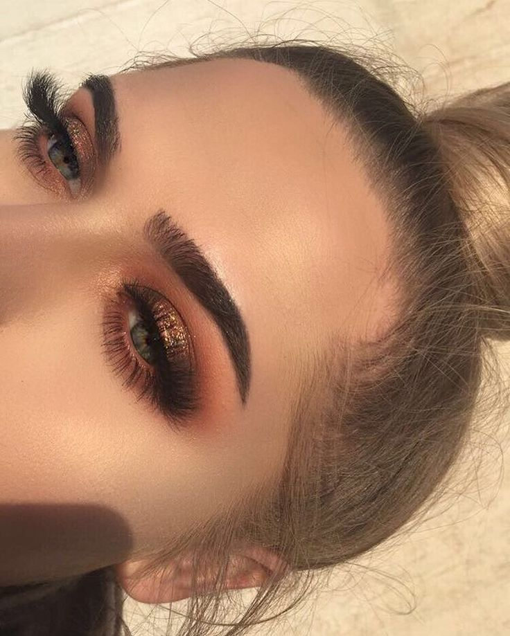 Glittery Smokey Eye Makeup Look