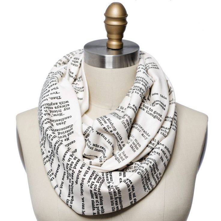 Les Miserables Book Scarf - Storiarts - 1 - $48