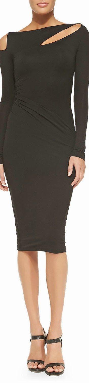 Donna Karan Cold-Shoulder Dress