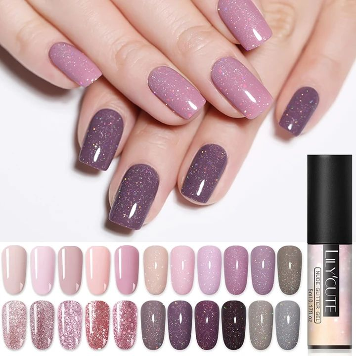 Belle Fille 10ml Nude Color UV Gel Nail Polish Holographic