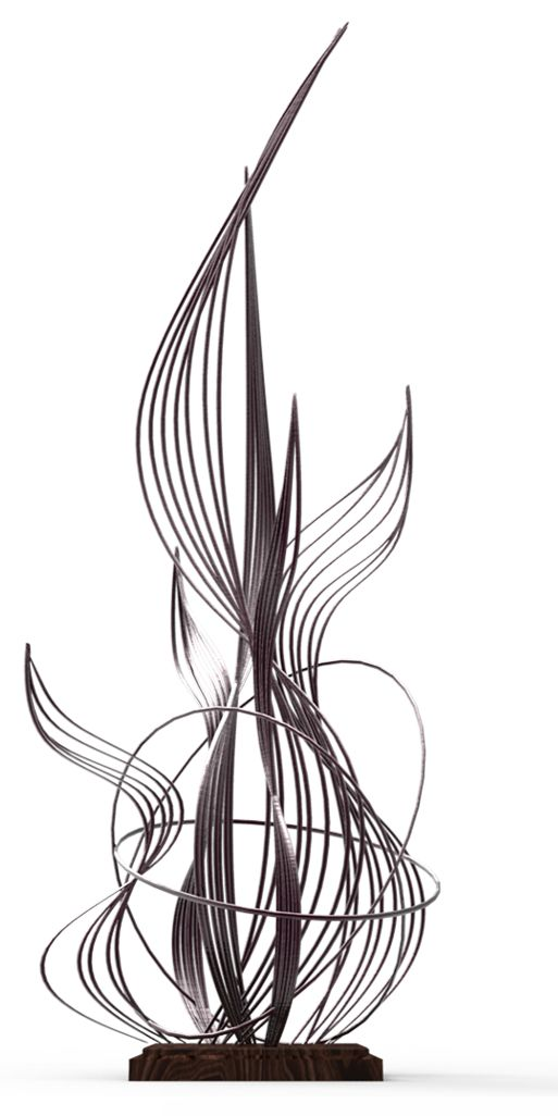 Line: Actual - The lines in this sculpture define it. They are curved and intertwined, giving it a shape and body.