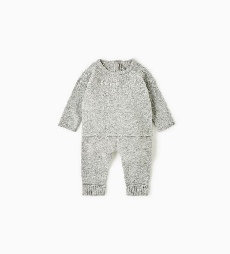 Image 1 of TEXTURED CASHMERE SET from Zara