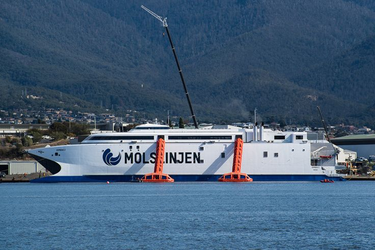 INCAT testing the life rafts on their latest wave piercing ferry
