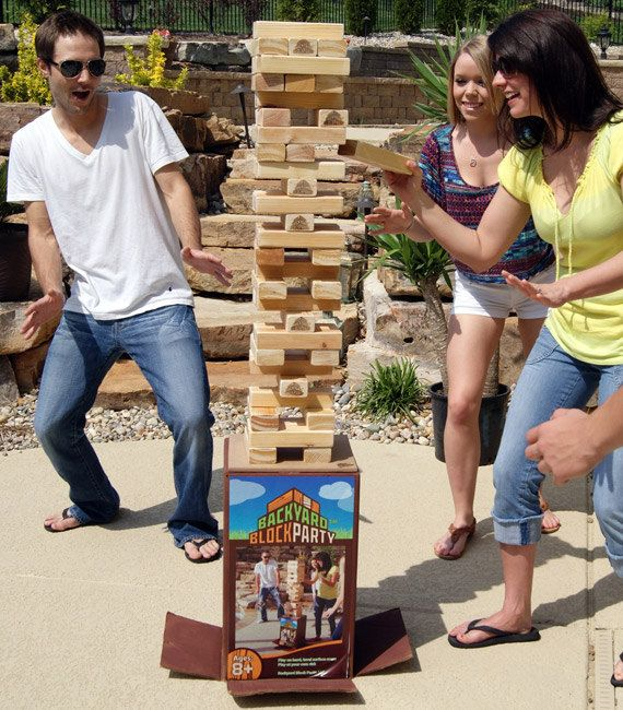 Giant outdoor jenga. I'm going to make this.