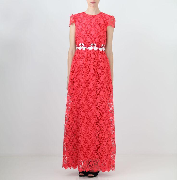 Long dress corallo Giamba Paris  www.jelmini.it