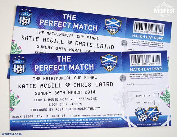 Invitations de mariage pour le Ticket football par MartyMcColgan