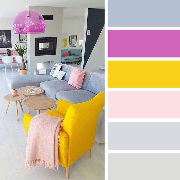 Welche Farbe Gelb Grau Altrosa Pink Silber Rauchfarbe Lavendel Altrosa Farbe Gelb Grau Lavendel Pin Schlafzimmer Farbschemata Farbinspiration Haus Deko