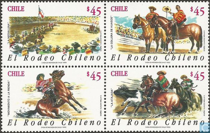 Postage Stamps - Chile [CHL] - El Rodeo Chileno