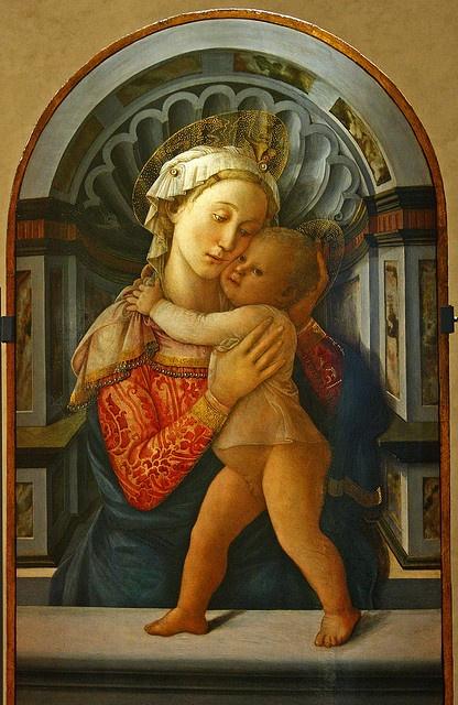 Fra Filippo Lippi (ca 1406-1469), Madonna and Child, panel 155 x 71 cm, Palazzo Medici-Riccardi