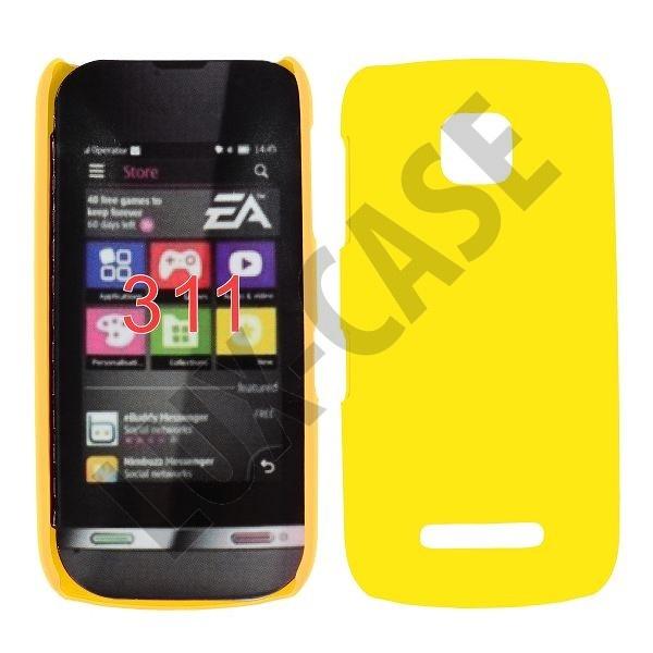 Hard Shell (Keltainen) Nokia Asha 311 Kotelo
