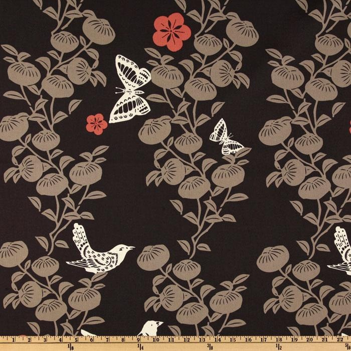 Ty Pennington Fabric - Papercut Charcoal - Home Decor Fabric. $13.00, via Etsy.