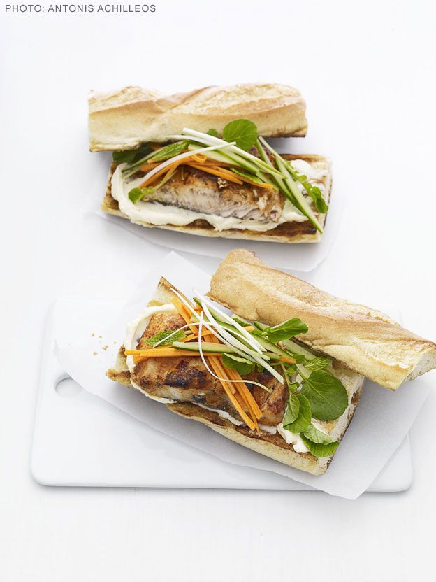 Mahi Mahi Banh Mi Vietnamese Sandwiches