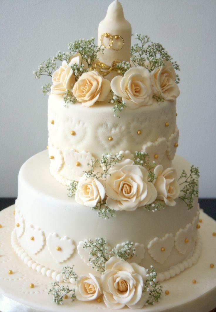 Golden Wedding Cake Idea