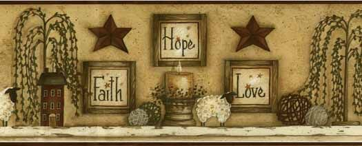 Burgundy Faith Hope Love Wallpaper Border CN1136BDB - Wallpaper & Border | Wallpaper-inc.com