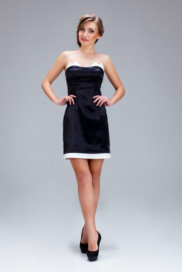 Черное платье классического силуэта из плотного костюмного атласа - My Kate - 1700.00грн. - - - - - #Лук #Лукбук #Женское #Украина #Фэшн #Мода #Бренд #Дизайнер #Одежда #Платье #Черный #Атлас  #Look #Lookbook #Woman #Women #Ukraine #Fashion #Brand #Designer #Clothes #MyKate #Black