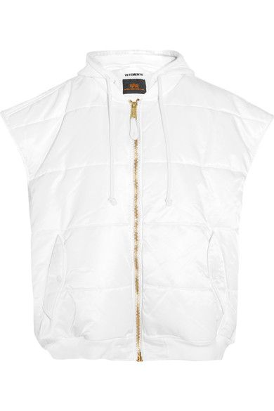 Vetements - Alpha Industries Oversized Quilted Shell Gilet - White - medium