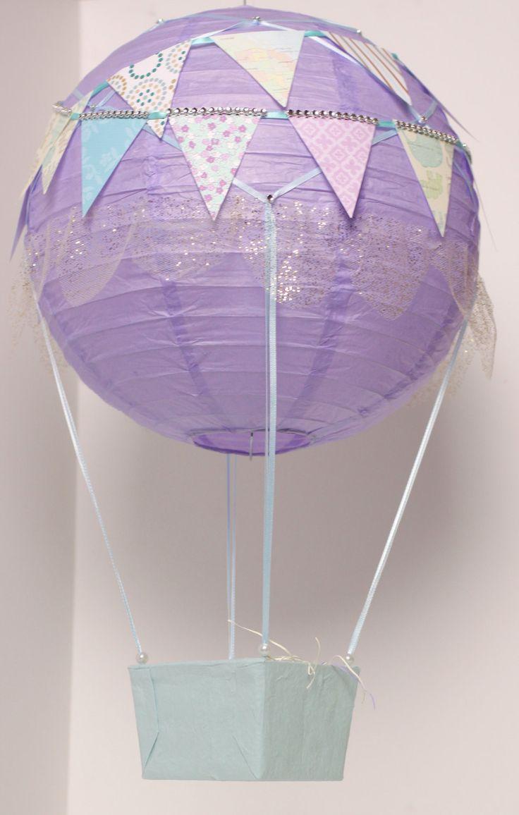 Beautiful Lavender Purple Handmade Paper Lantern Hot Air
